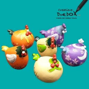 creatief pakket voor thuis kippen beschilderen