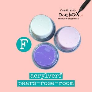 acrylverf rose paars tinten kopen kleine verpakking