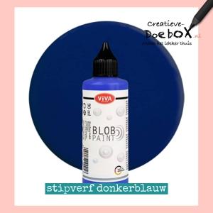 donkerblauwe stipverf kopen flesje 90 ml