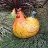 bolle kip voor in de tuin keramiek
