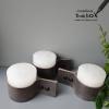 kaarsen met grijs leer stoer en modern