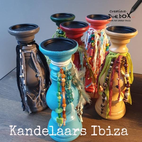 Diy Ibiza kandelaars